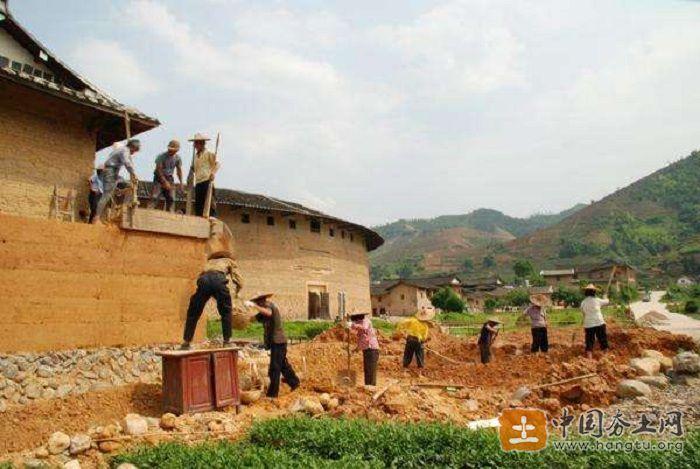 福建土楼夯筑工艺